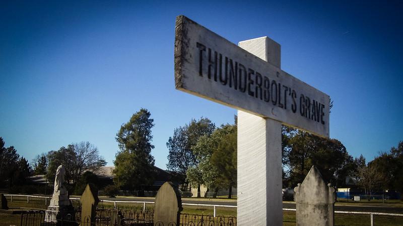 Uralla Cemetery, Australia<br /> Burial of Fred Ward (better known as the bushranger 'Captain Thunderbolt')