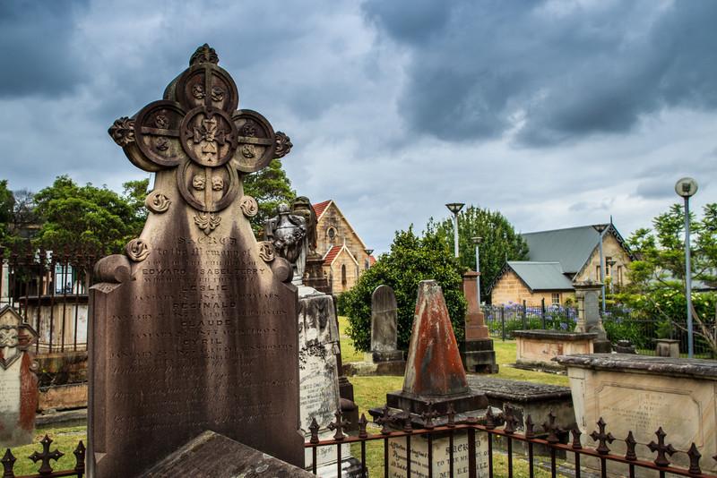 Ryde, Sydney, Australia<br /> Cemetery for St Anne's Church.