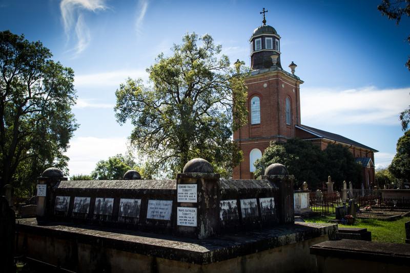 Graves of the Tebbutt Family<br /> St Matthews Anglican Church, Windsor