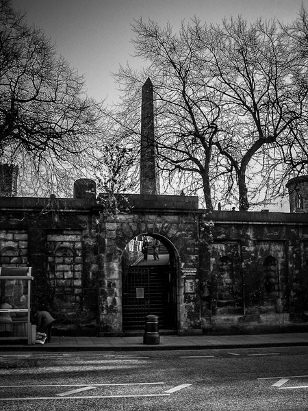 Edinburgh, Scotland<br /> Old Calton Cemetery (also called Old Calton Burial Ground), with the Marty's Monument prominent.