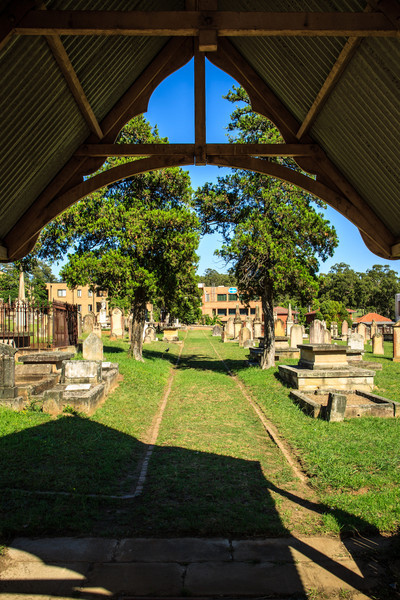 Parramatta, NSW, Australia<br /> St John's Cemetery, the oldest burial ground in Australia. First burial here was that of James Magee, a convict's child, buried 31 January 1790 (unmarked); the oldest marked grave is that of Henry Dodd, 1791.