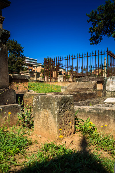 Parramatta, NSW, Australia<br /> Section marker in St John's Cemetery - this one denoting Section 1, on your left as you enter the main gate.