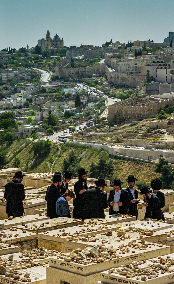 Jerusalem, Israel<br /> Jewish cemetery on the Mount of Olives.