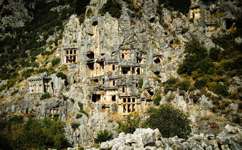 Kale, Turkey<br /> Lycian Rock Tombs.