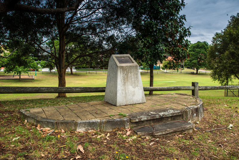 Putney, Sydney, Australia<br /> Memorial marking the approximate location of Bennelong's burial.