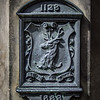 Detail from the Canongate Mercat Cross, Canongate Kirkyard.