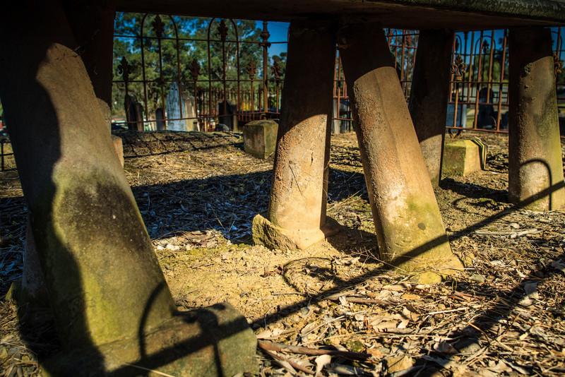 Wilberforce, Australia<br /> Table Slab Grave., Wilberforce Cemetery.