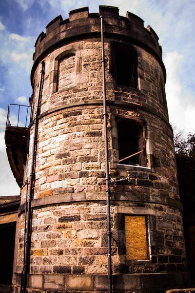 Edinburgh, Scotland<br /> Watchtower in the New Calton Cemetery; staffed by friends and relatives of those recently buried to guard against body-snatching.