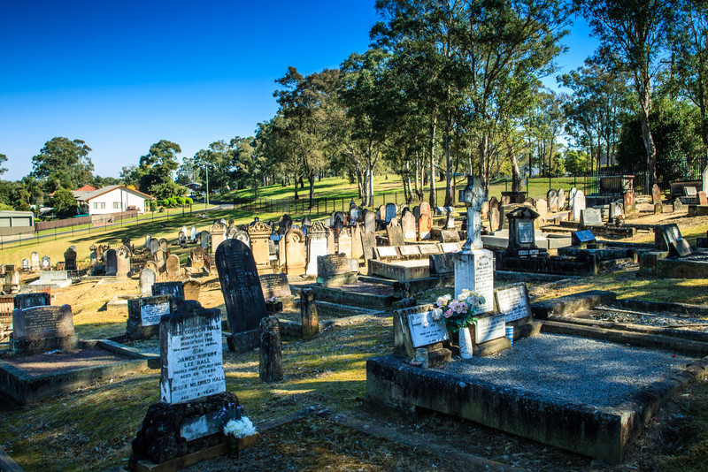 Wilberforce Cemetery, Australia<br /> Dating to 1811.