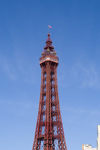 Blackpool Tower in Lancashire, England