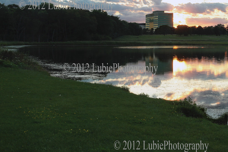 North Pool of Busse Lake in the evening.