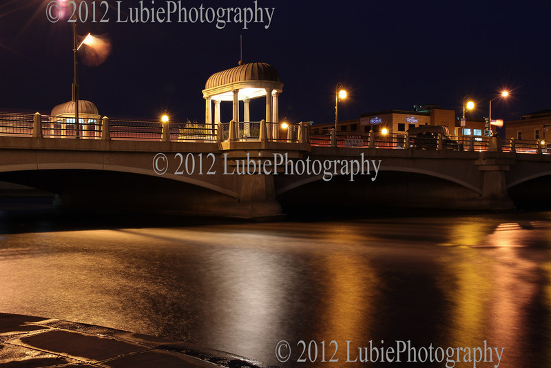Fox River and St Charles by night
