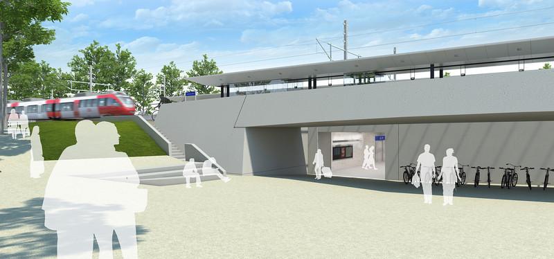 Bahnhof Lauterach Vorplatz West B
