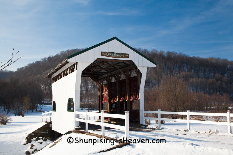 Schulz's Core Hollow Creek Covered Bridge, Richland County, Wisconsin