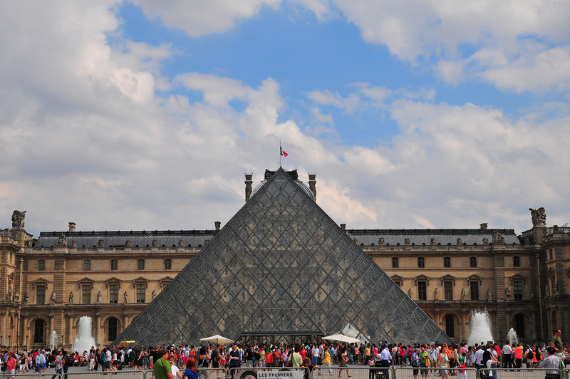 he Musée du Louvre or officially the Grand Louvre — in English, the Louvre Museum or Great Louvre, or simply the Louvre — is the national museum of France, the most visited museum in the world, and a historic monument. It is a central landmark of Paris, located on the Right Bank of the Seine in the 1st arrondissement (neighbourhood). Nearly 35,000 objects from the 6th century BC to the 19th century are exhibited over an area of 60,600 square metres (652,300 square feet).
