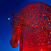 The Kelpies Horse statues at Falkirk, Scotland.