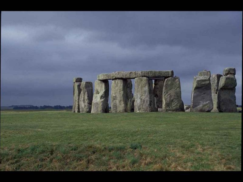 Stonehenge under dark skies