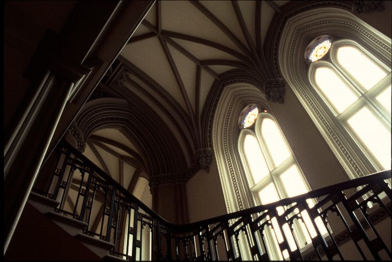 Gothic staircase in Belvoir Castle
