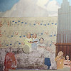 Tour of renovated and expanded Coburn Hall at UMass Lowell South Campus, originally the Lowell Normal School, founded to train teachers. A partially restored portion of the large WPA-era mural.(SUN/Julia Malakie)
