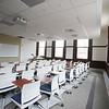 Tour of renovated and expanded Coburn Hall at UMass Lowell South Campus, originally the Lowell Normal School, founded to train teachers. One of the new classrooms in the original building, preserving full height of windows. (SUN/Julia Malakie)
