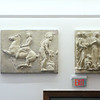 Tour of renovated and expanded Coburn Hall at UMass Lowell South Campus, originally the Lowell Normal School, founded to train teachers. Relocated from else on campus, plaster reliefs that were restored with a grant in 2015. The rectangular ones are copied from the Parthenon, the square ones from a Renaissance building in Florence. (SUN/Julia Malakie)