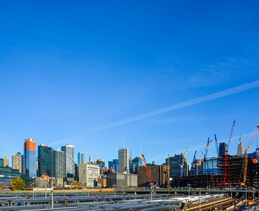 Many Cranes of the Hudson Yards