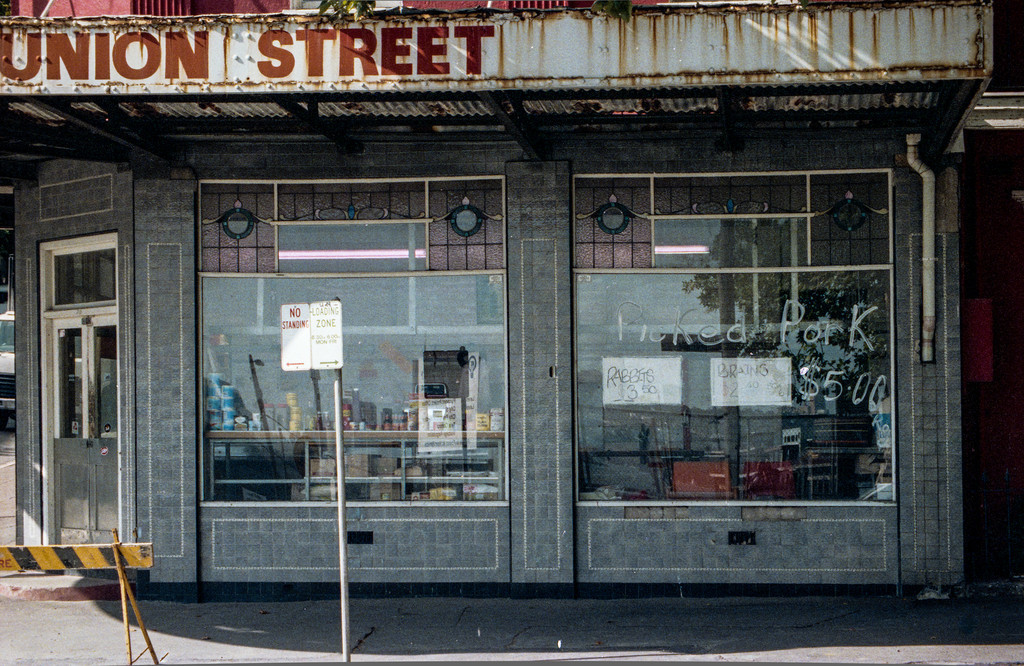 Sydney, Australia<br /> Corner Edward and Union Streets. Once a butcher, now a patisserie.