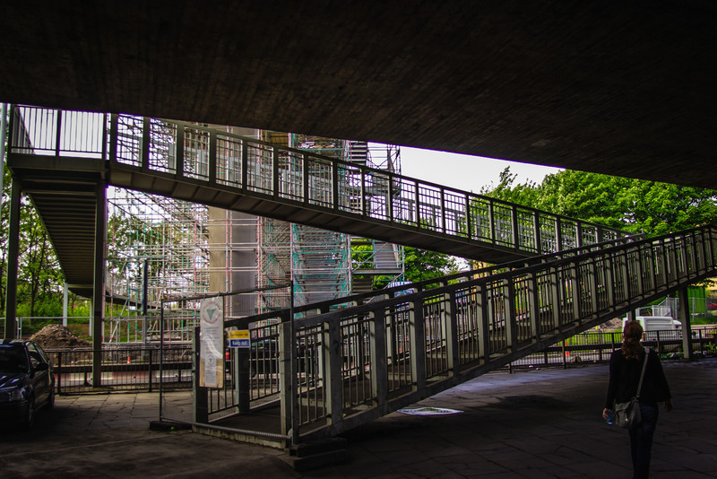 Glasgow, Scotland<br /> Anderston, under the motorway.