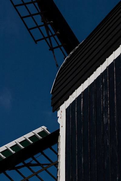 Leiden, The Netherlands<br /> Windmill 'de Put'. This is a modern (1987) reconstruction of a 17thC post-mill (the entire mechanism is balanced on a post so that it can turn to face the wind). The original stood at this location from 1619 to 1729.