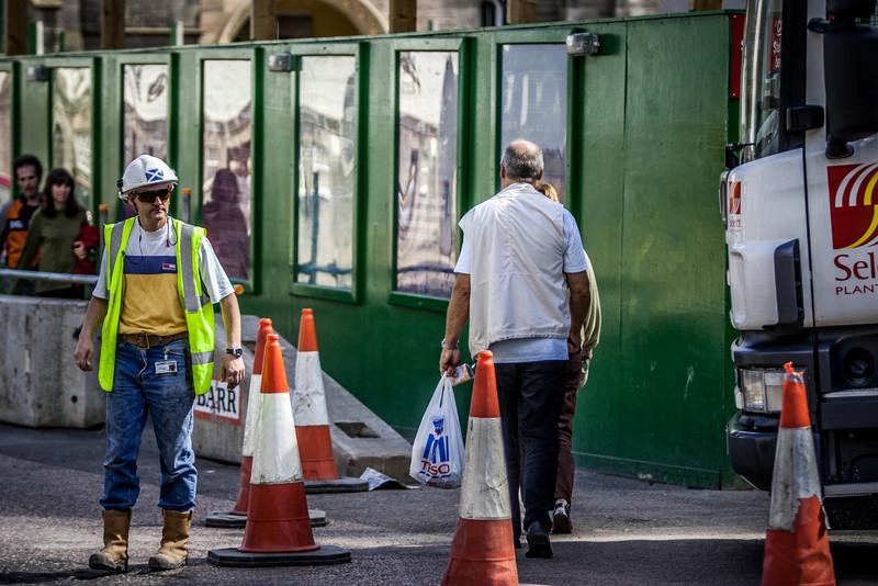 Edinburgh, Scotland<br /> The New Scottish Parliament building under construction.