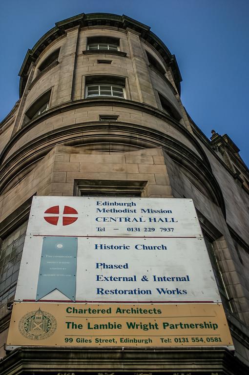 Edinburgh Methodist Mission's Central Hall<br /> Sold to Morningside Baptist Church in 2011.