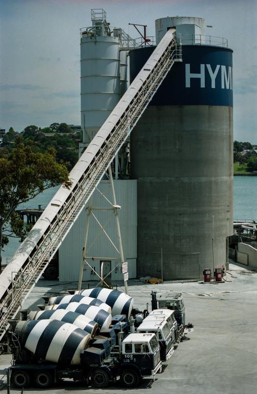 Pyrmont, Sydney, Australia<br /> Hymix Concrete plant.
