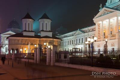 Biserica Coltea si spitalul Coltea - noaptea