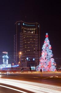 Hotel Intercontinental si bradul - noaptea