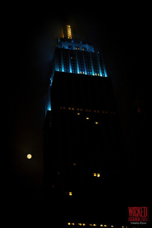 Full Moon over the Empire State Building, NYC