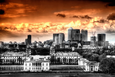 The Admiralty with Canary Wharf