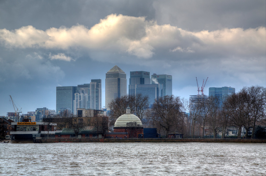 Canary Wharf from Greenwich