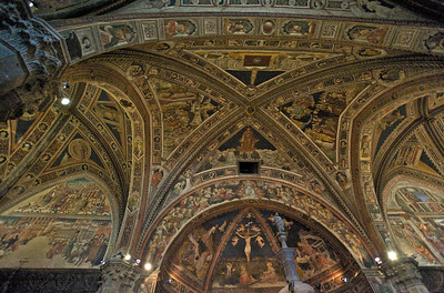 Baptistry Ceiling, Siena Cathedral, Siena, Italy
