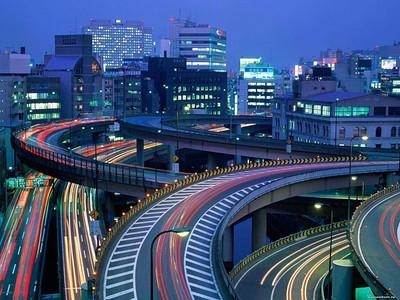 City roads in Japan