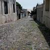 original cobblestone street, Colonia del Sacramento, Uruguay