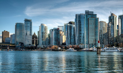 Downtown Vancouver Coal Harbour view