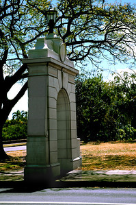 Entry structure to the University of Hawaii in Manoa