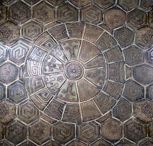 Alexander & Baldwin BuildingDetail of the tiled floor in the portico Honolulu, O'ahu, Hawai'i