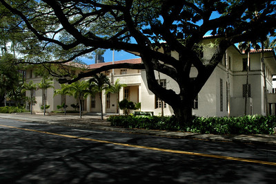 Hale AuhauSpanish Mission Revival Style architecture.  a Works Progress Administration structure completed in 1939 and currently the home of the Attorney General's offices.Honolulu, O'ahu, Hawai'i