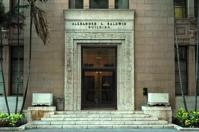 Alexander & Baldwin Building side door Honolulu, O'ahu, Hawai'i