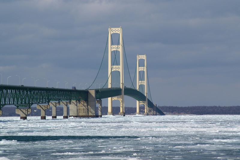 Mackinaw Bridge, Michigan<br /> Linking Michigan's Upper and Lower Peninsulas