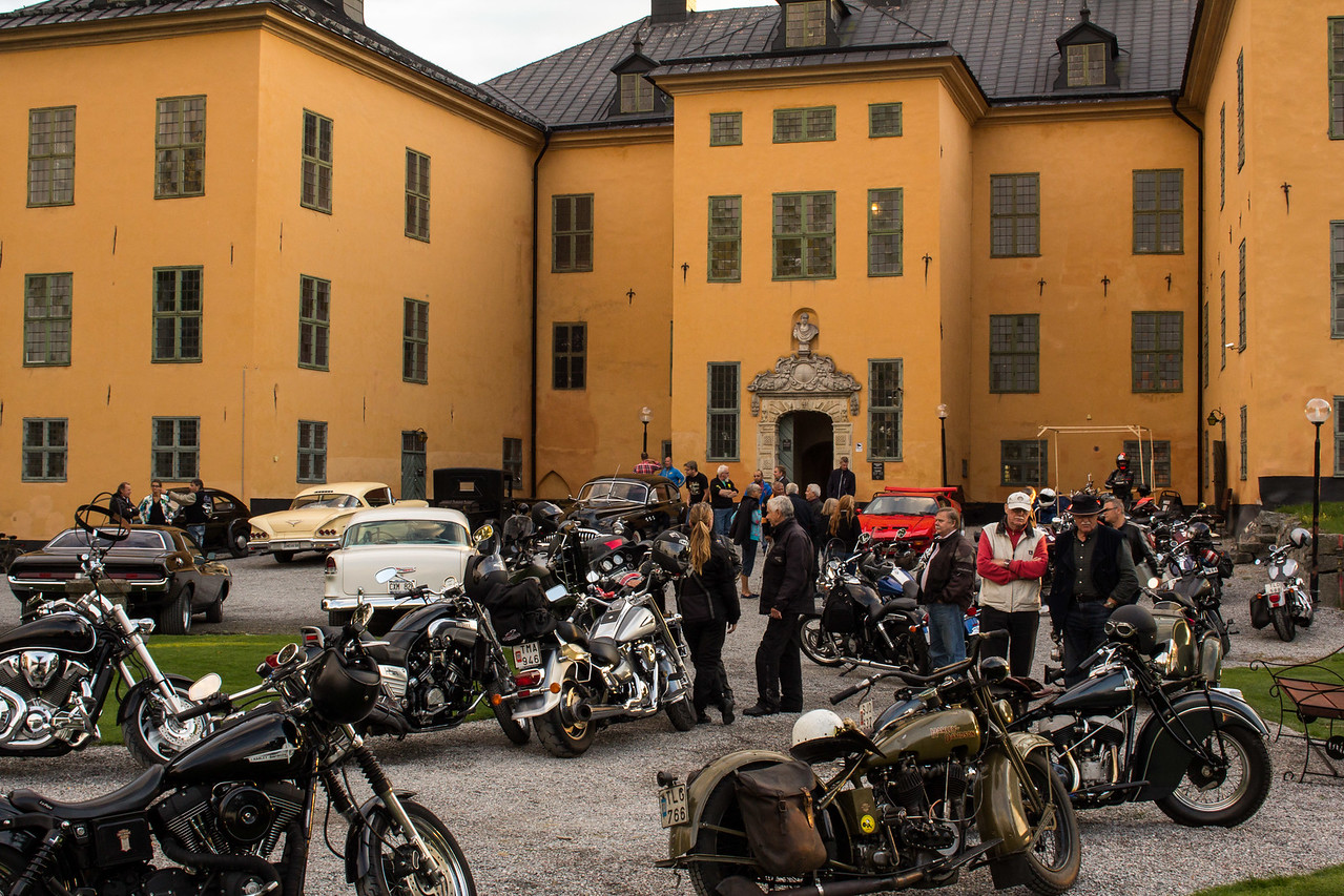 Car and motorbike meeting at Venngarn Castle 2014.