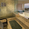 Master Bath, 2 person jetted tub, shower with steam room option, ocean view