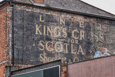 Old advertisement at Hampstead Heath
