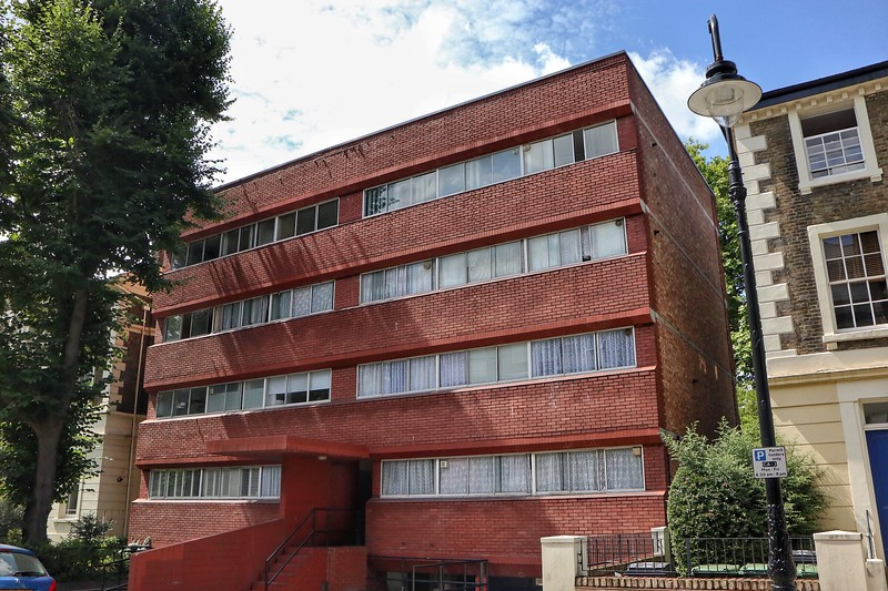 Social housing by James Stirling (note similarity with Leicester's Engineering block)